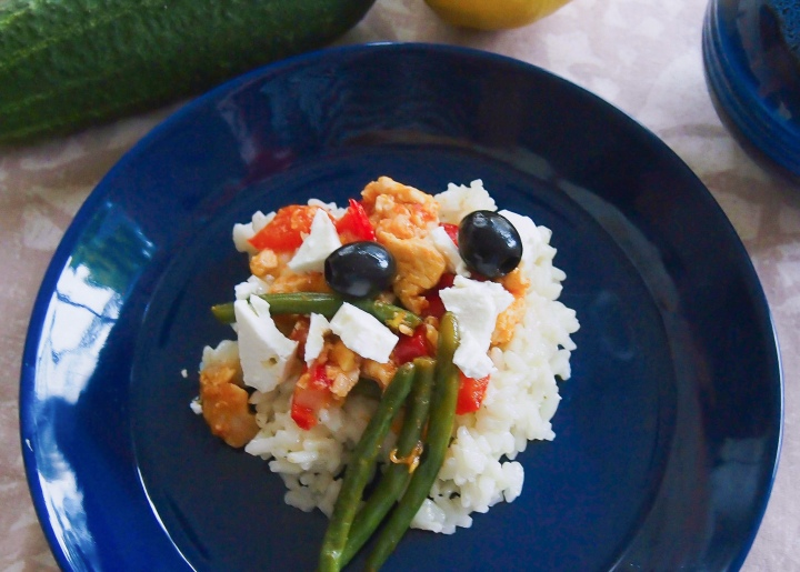 Inkiväärikanaa ja riisiä